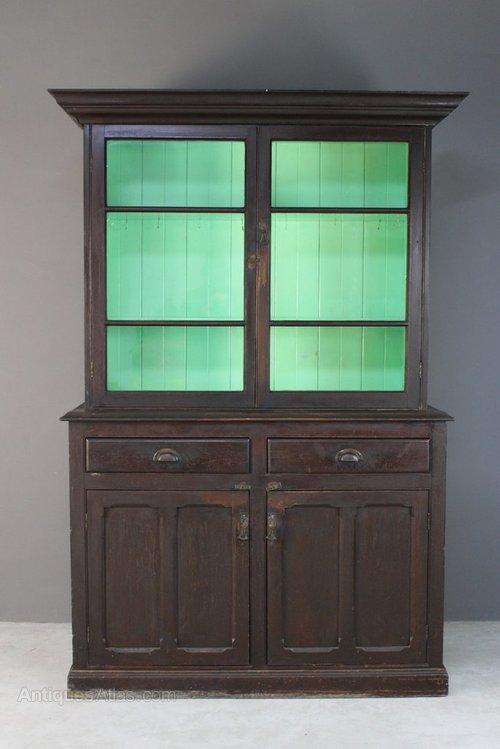 Antique Stained Pine Glazed Dresser