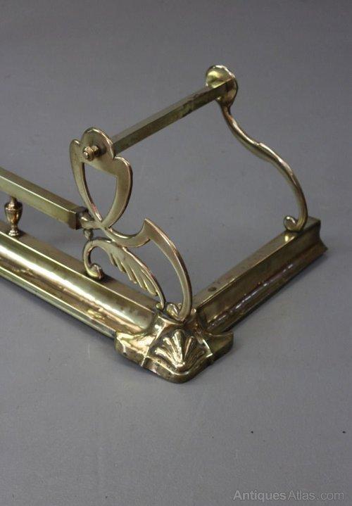 Antique Fire Fenders : Antiques atlas art nouveau brass fire fender