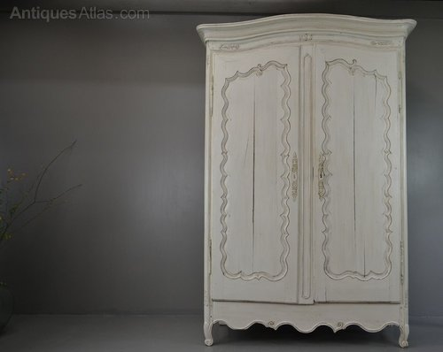 large antique french white shabby chic armoire antiques. Black Bedroom Furniture Sets. Home Design Ideas