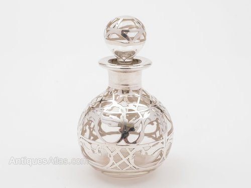 American Glass And Silver Overlay Scent