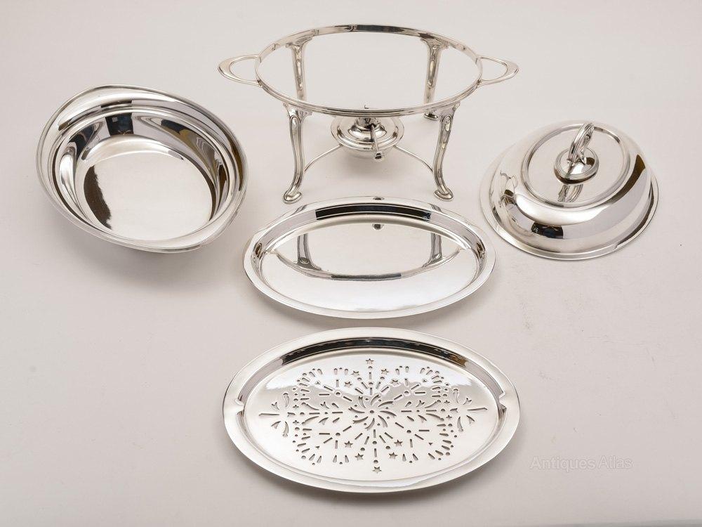 Antiques atlas art deco elkington silver plated entree dish - Entree deco ...