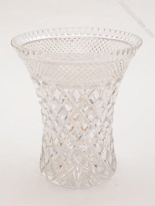 Antiques Atlas Large Cut Glass Vase Circa 1920