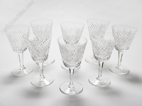 Antiques Atlas Set Of 8 Vine Waterford Crystal Wine Gles