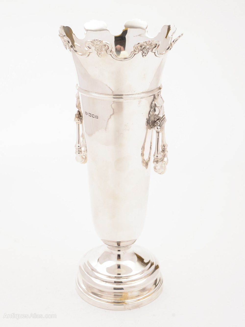 Antiques Atlas Silver Two Handled Vase London 1922