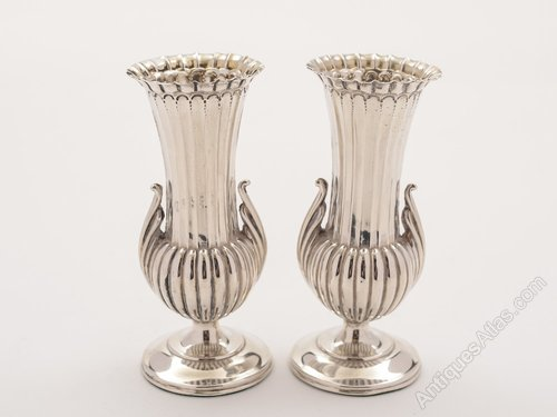 Antiques Atlas Victorian Pair Of Small Silver Vases