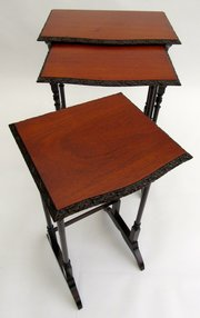 tablestown house traders edwardian mahogany nest of tab