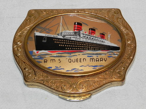 Antiques Atlas Rare Hms Queen Mary Stratton Powder Compact