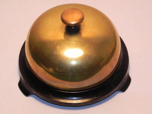 Rare Victorian Russell & Erwin Brass Desk Bell - Antiques Atlas - Rare Victorian Russell & Erwin Brass Desk Bell