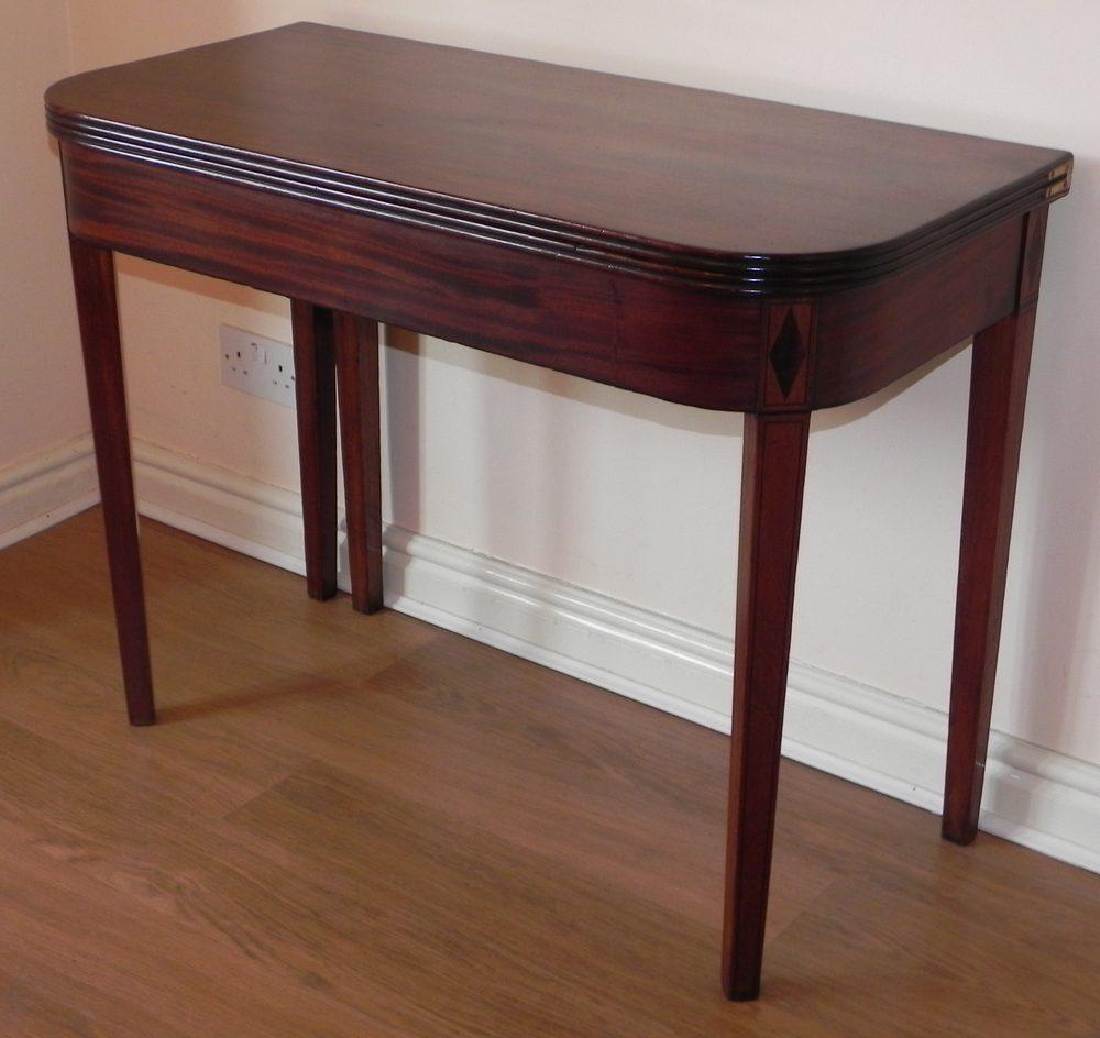 regency mahogany fold over d tea table antiques atlas