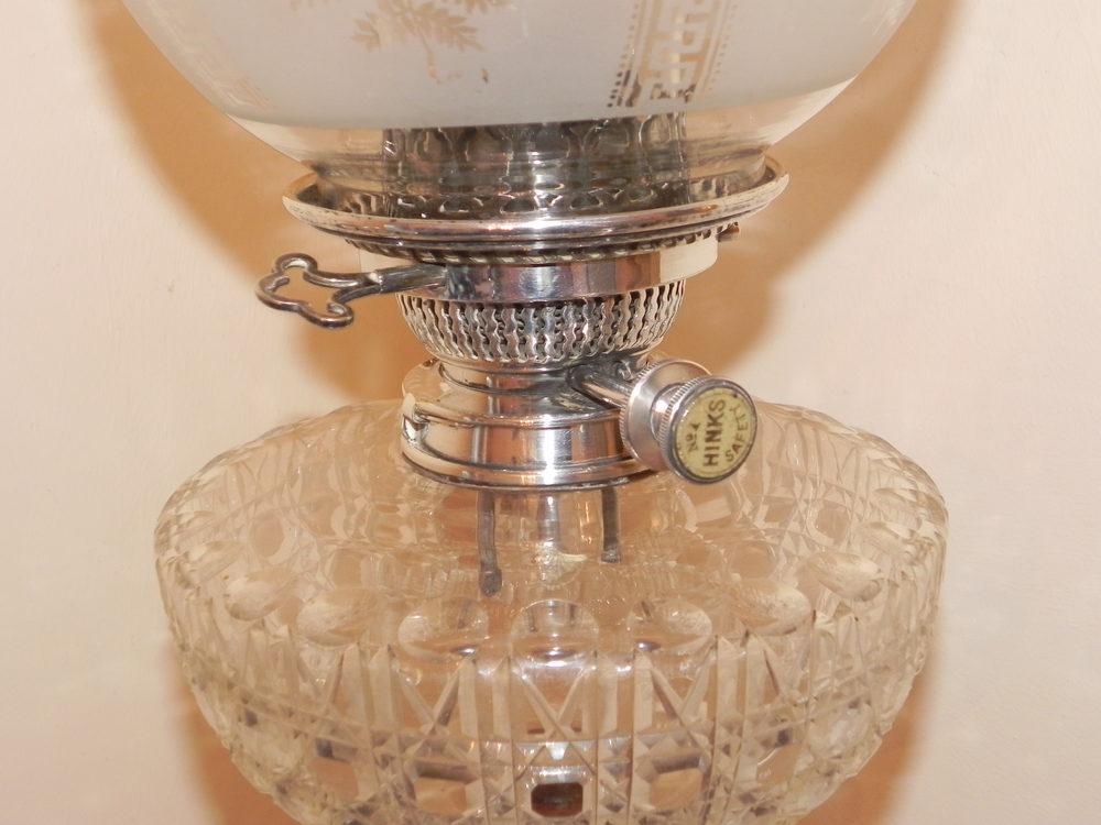 Antiques Atlas Victorian Silver Oil Lamp Hawksworth Eyre Hinks