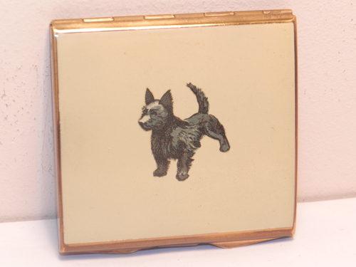 Antiques Atlas - Vintage Art Deco Westie Scotty Dog Powder Compact