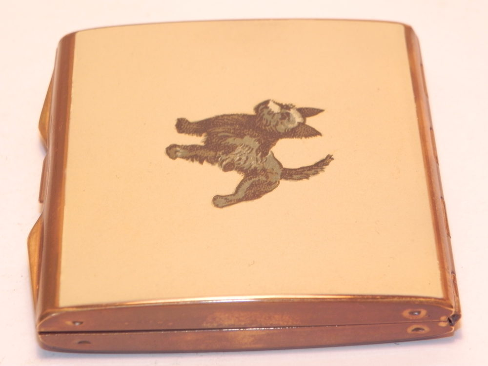 Antiques Atlas - Vintage Art Deco Westie Scotty Dog Powder Compact
