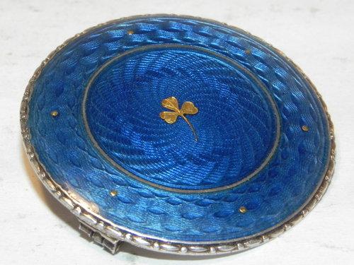 Vintage Silver U0026 Guilloche Enamel Brooch Pin ...