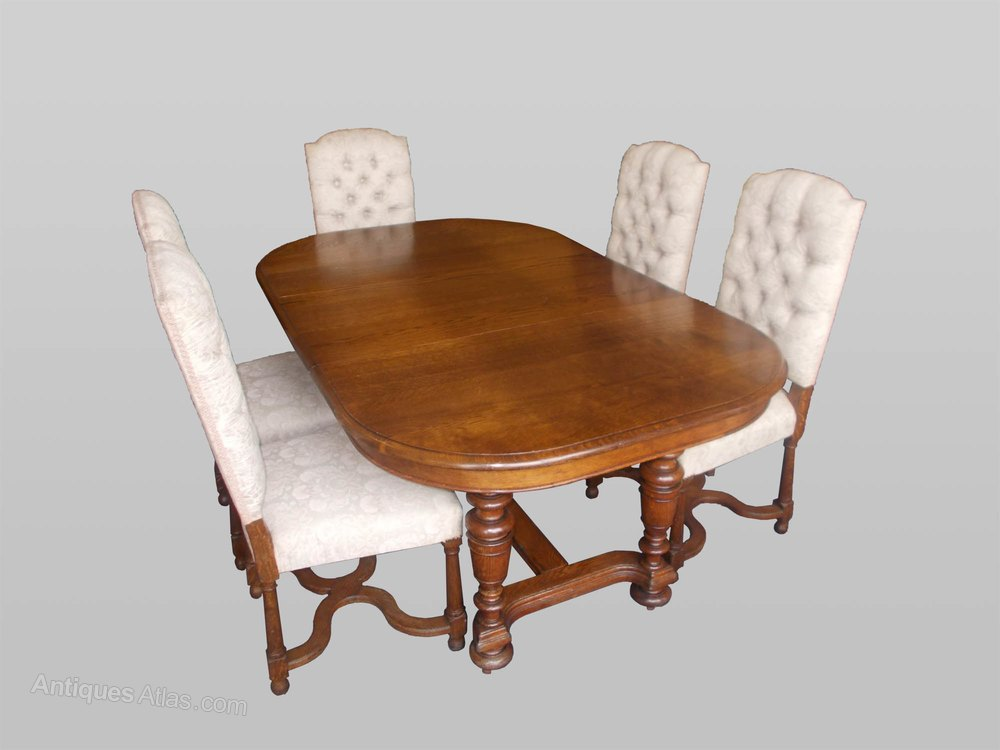 continental oak table and six chairs antiques atlas