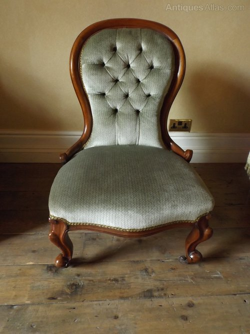 Victorian Ladies Spoon Backed Chair Antique ... - Victorian Ladies Spoon Backed Chair - Antiques Atlas