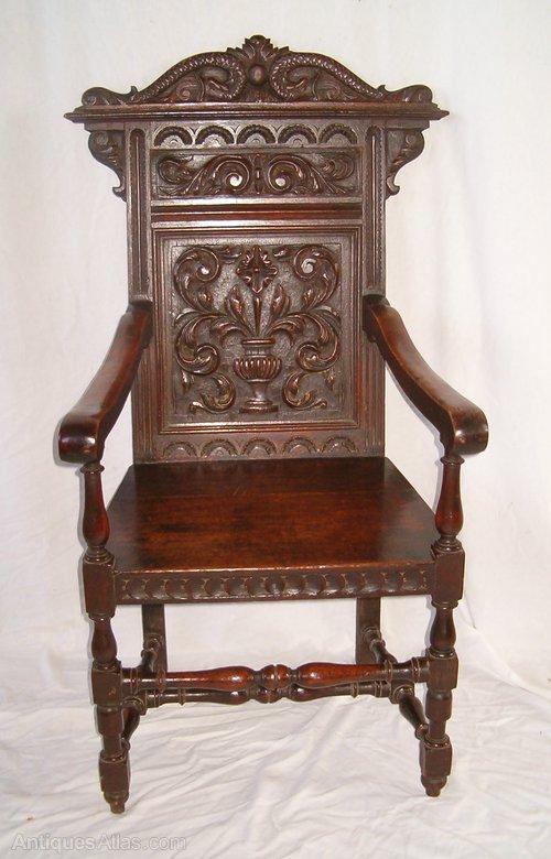 Oak Wainscot Chair ...