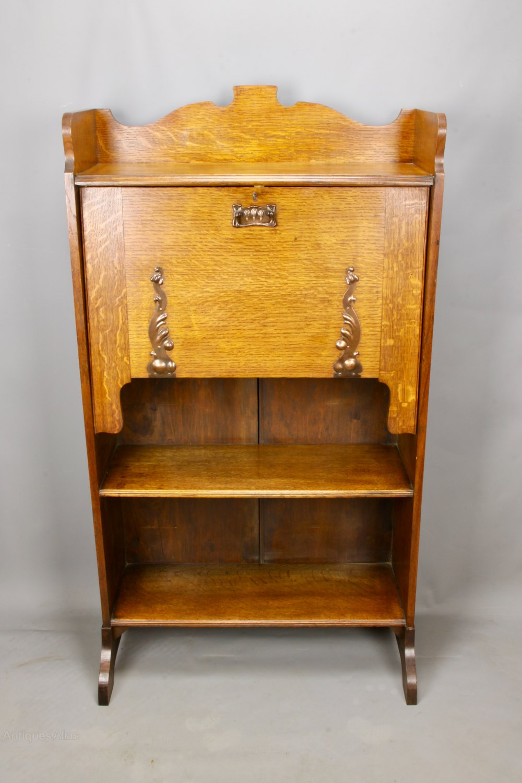 arts crafts oak students bureau c1910 antiques atlas. Black Bedroom Furniture Sets. Home Design Ideas