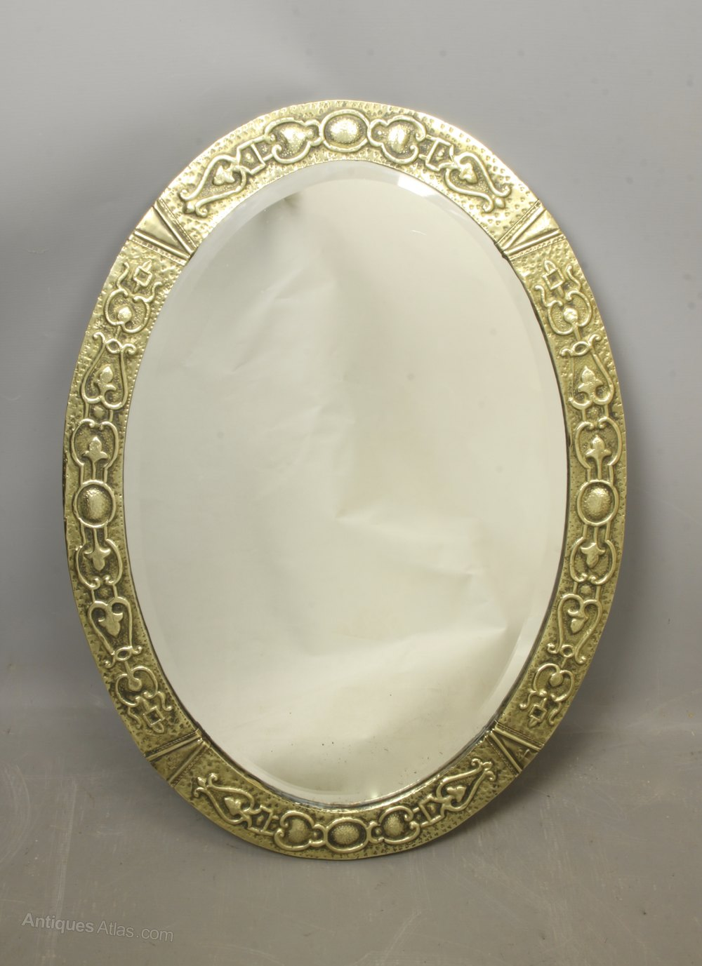 Antiques Atlas Arts Amp Crafts Oval Brass Mirror C1910