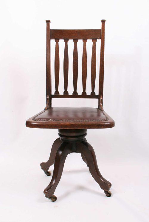 wholesale dealer b673a 3faba Arts & Crafts Revolving Desk Chair - Antiques Atlas