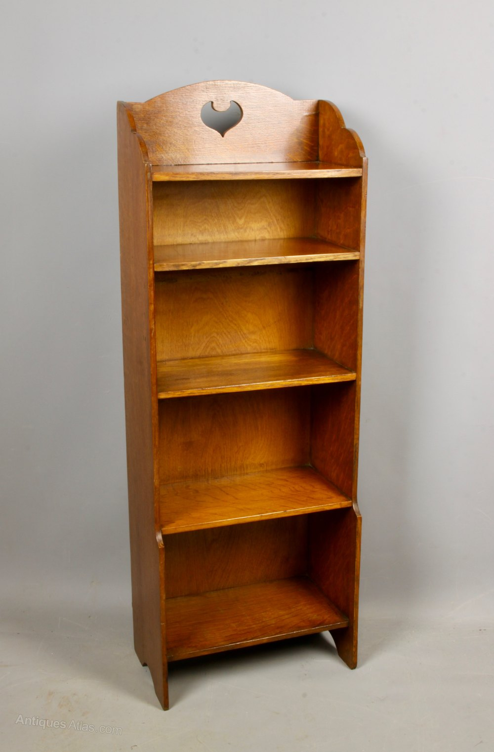 Arts Crafts Slim Narrow Oak Bookcase C1910 Antiques Atlas