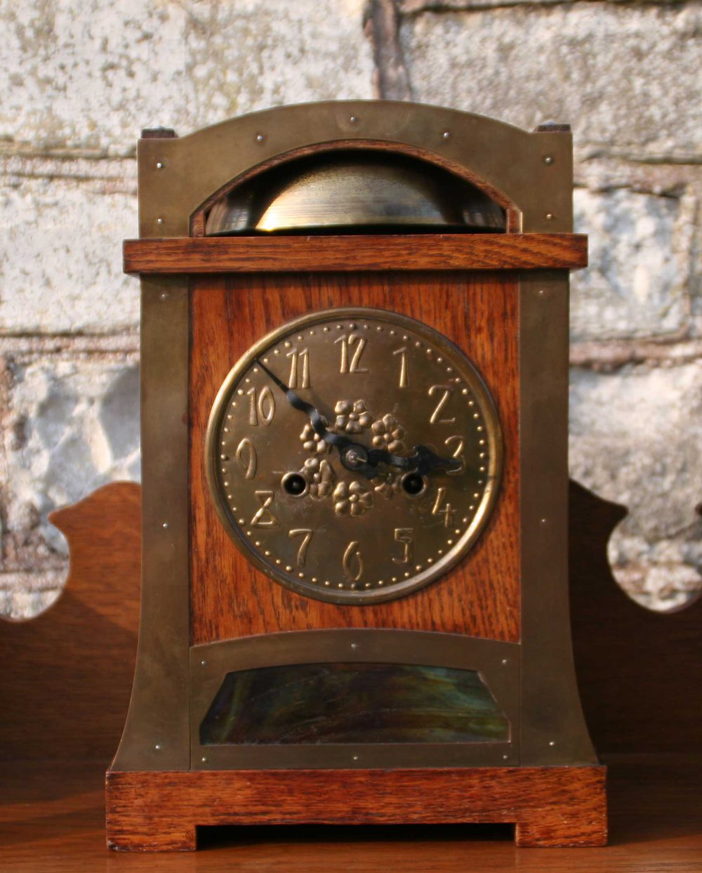 Arts and crafts mantle clock - Arts And Crafts Liberty Style Mantel Clock