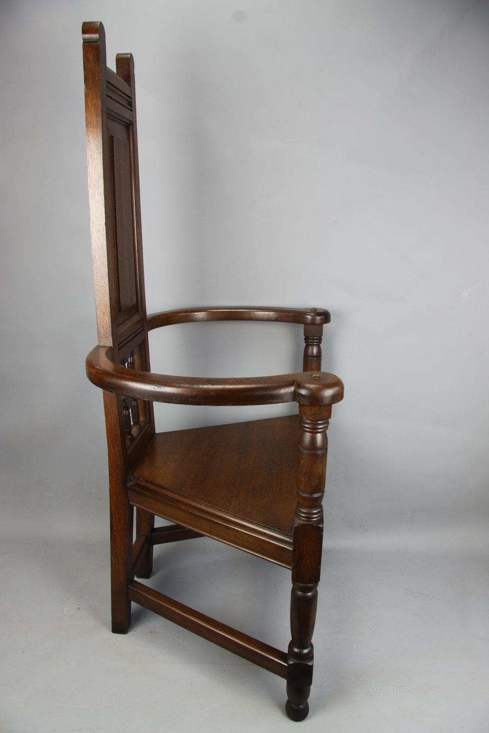 Arts And Crafts Oak Shakespeare Chair, C1890 - Antiques Atlas