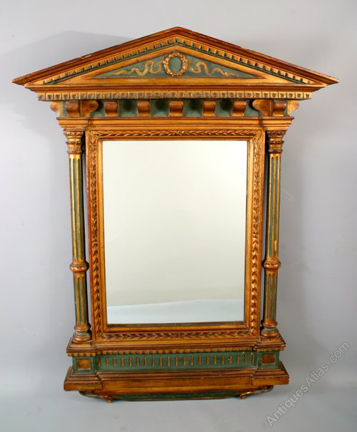 Antiques Atlas - C 19th Italian Renaissance Tabernacle Frame Mirror