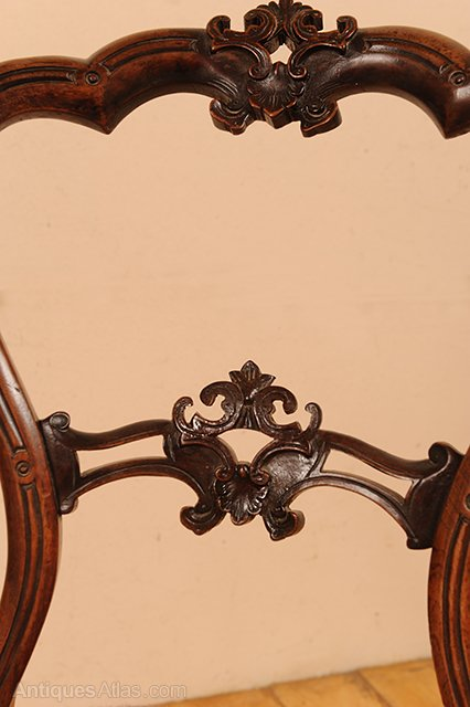 6 Victorian Carved Walnut Tapestry Chairs Antiques Atlas