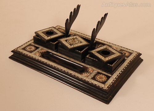 Anglo Indian Writing Desk Top Tidy