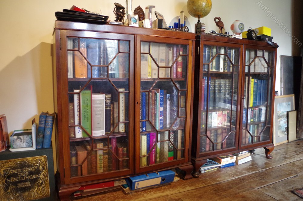 Pair Of Antique Bookshelves Display Cabinets Cabinet Book Shelves