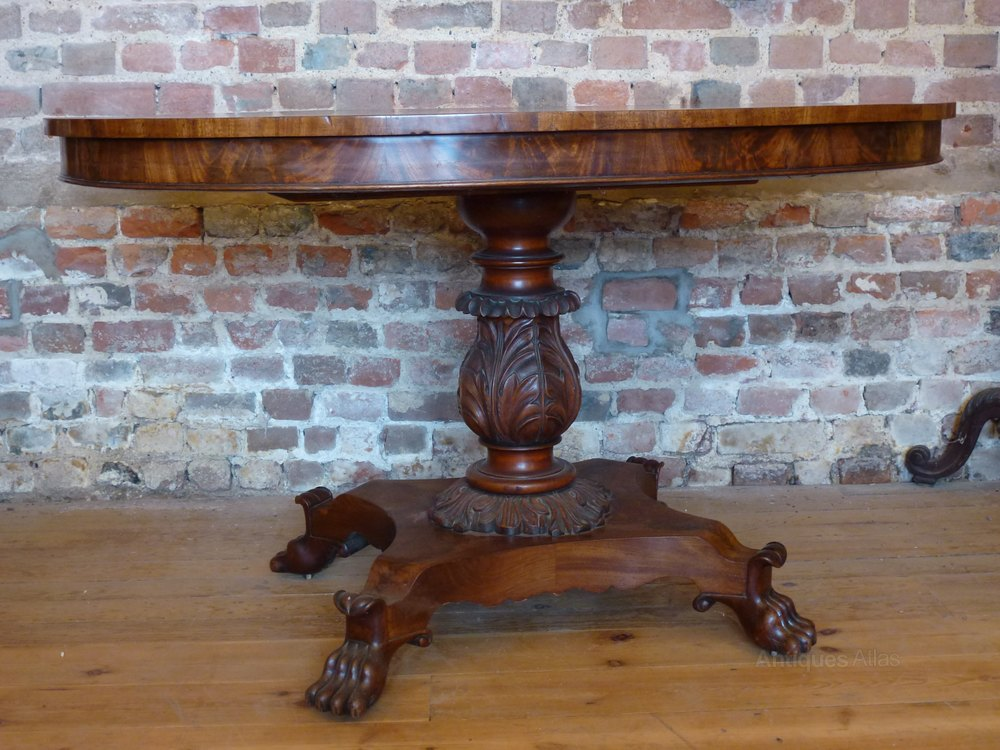 Small Walnut Oval Dining Table With Claw Feet Antiques Atlas