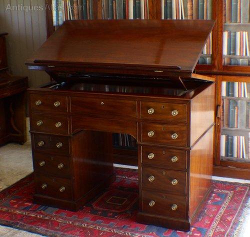 Rare Georgian Gillows architects desk/table - Rare Georgian Gillows Architects Desk/table - Antiques Atlas