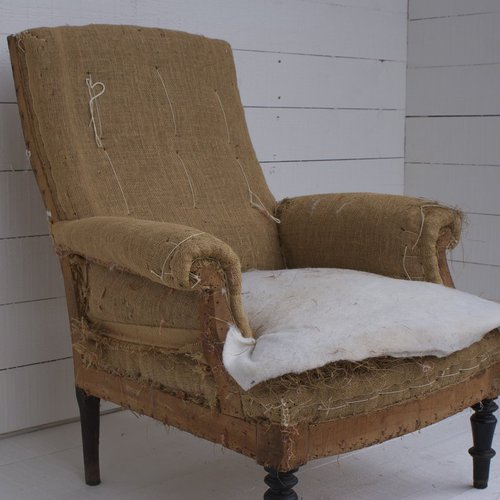 AntiqueFrenchArmchairForReUpholstery