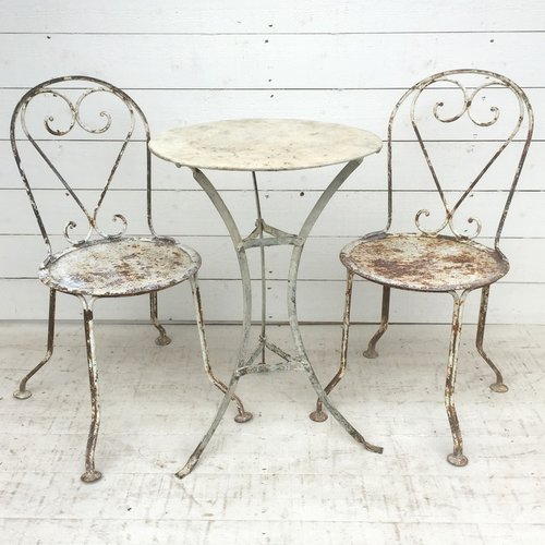 Antique French Garden Bistro Set
