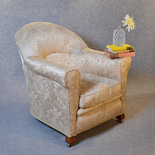 Antique Armchair Drawing Room Upholstered Easy Chair ...