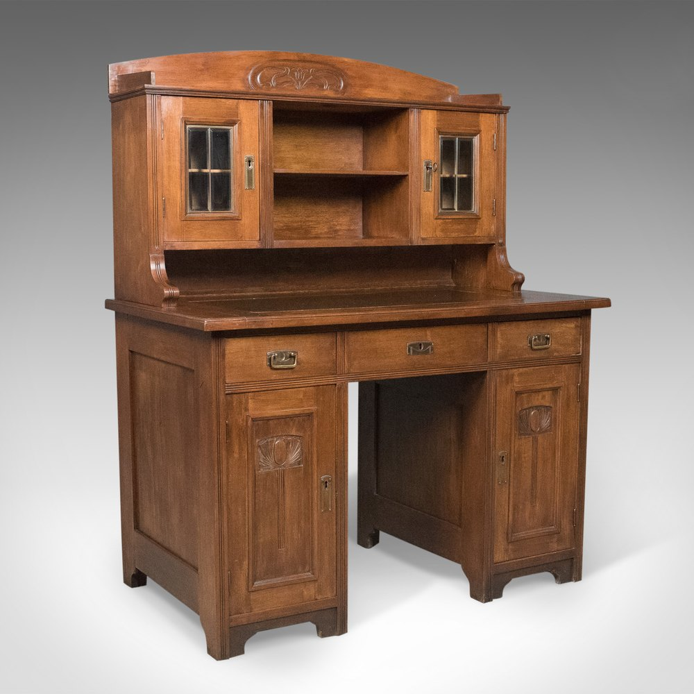 Antique Art Nouveau Desk English Victorian