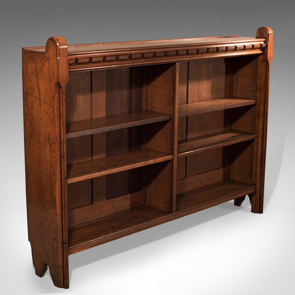 Antique, Bookcase, English, Oak, Victorian Shelf - Antiques Atlas