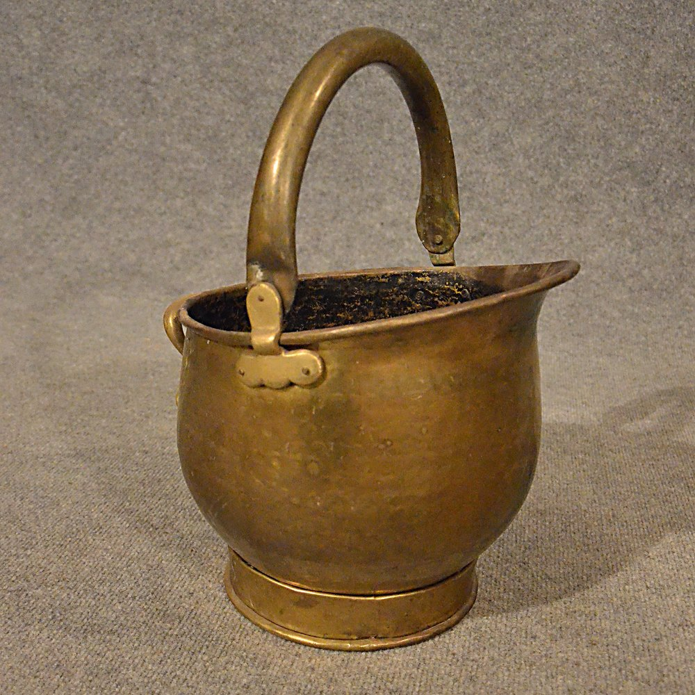 antiques atlas antique brass fire coal bucket fireside log bin