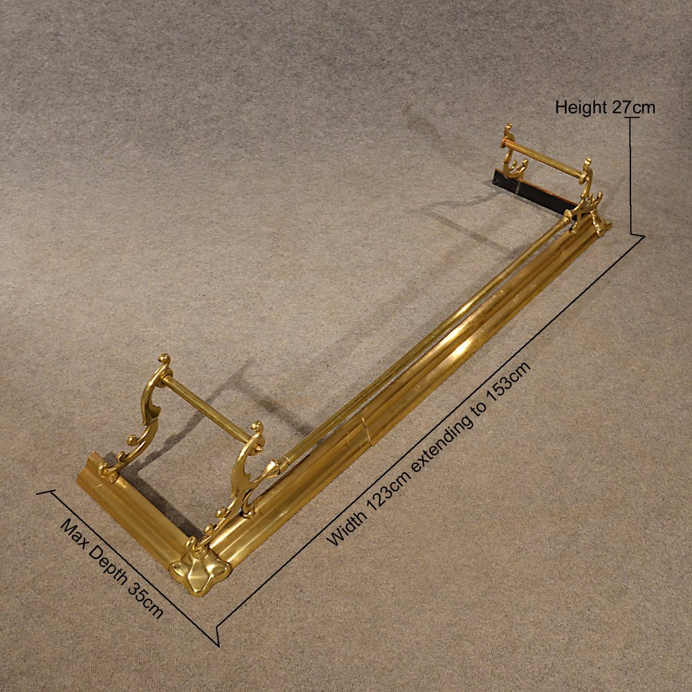 Antiques Atlas Antique Brass Fire Fender Guard Foot Rail Suits