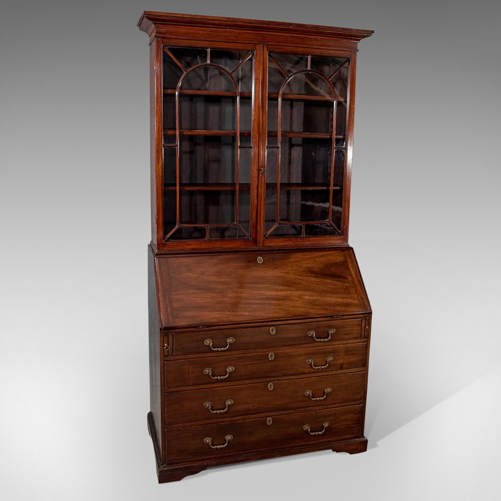 antique bureau bookcase display cabinet mahogany antiques atlas. Black Bedroom Furniture Sets. Home Design Ideas