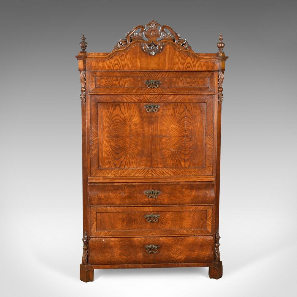 Antique bureau desk french escritoire oak antiques atlas for Bureau french