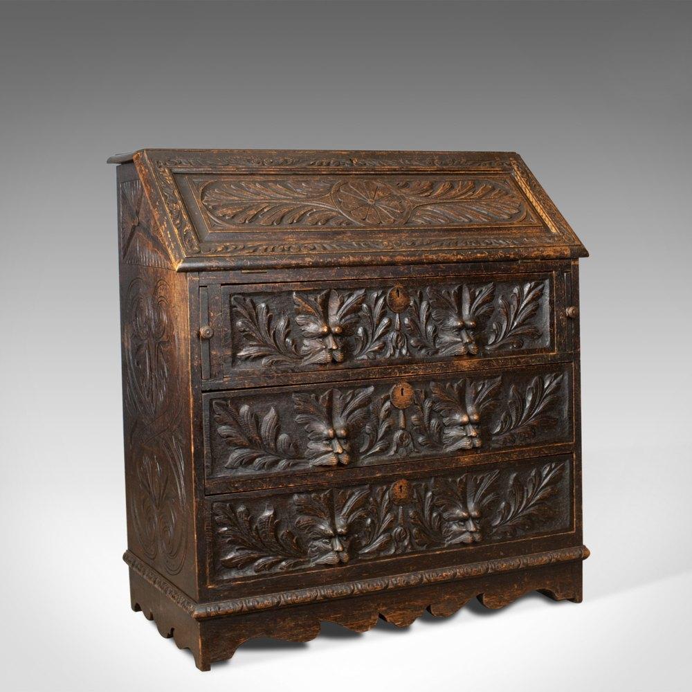 antique bureau english oak victorian antiques atlas. Black Bedroom Furniture Sets. Home Design Ideas