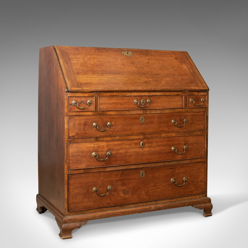 antique bureau mahogany english georgian desk antiques atlas. Black Bedroom Furniture Sets. Home Design Ideas