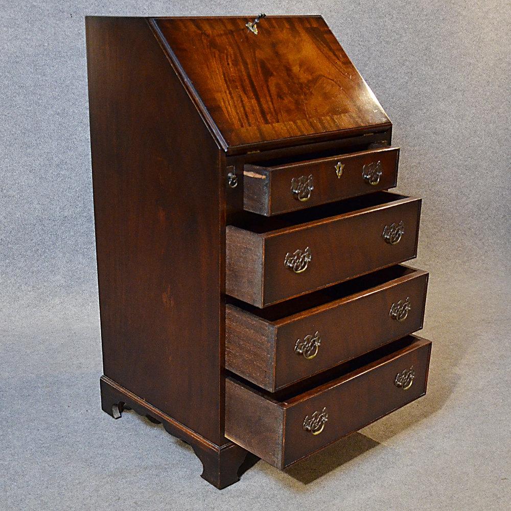 Antique Bureau Writing Desk Gany Leather Top E Bureaus