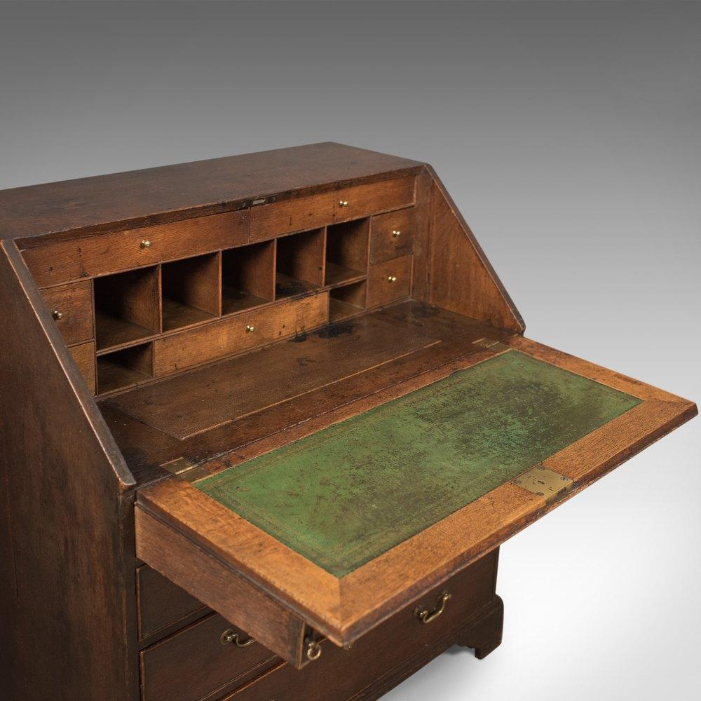 Antique Bureau With Secret Drawers English Oak Desk Bureaus