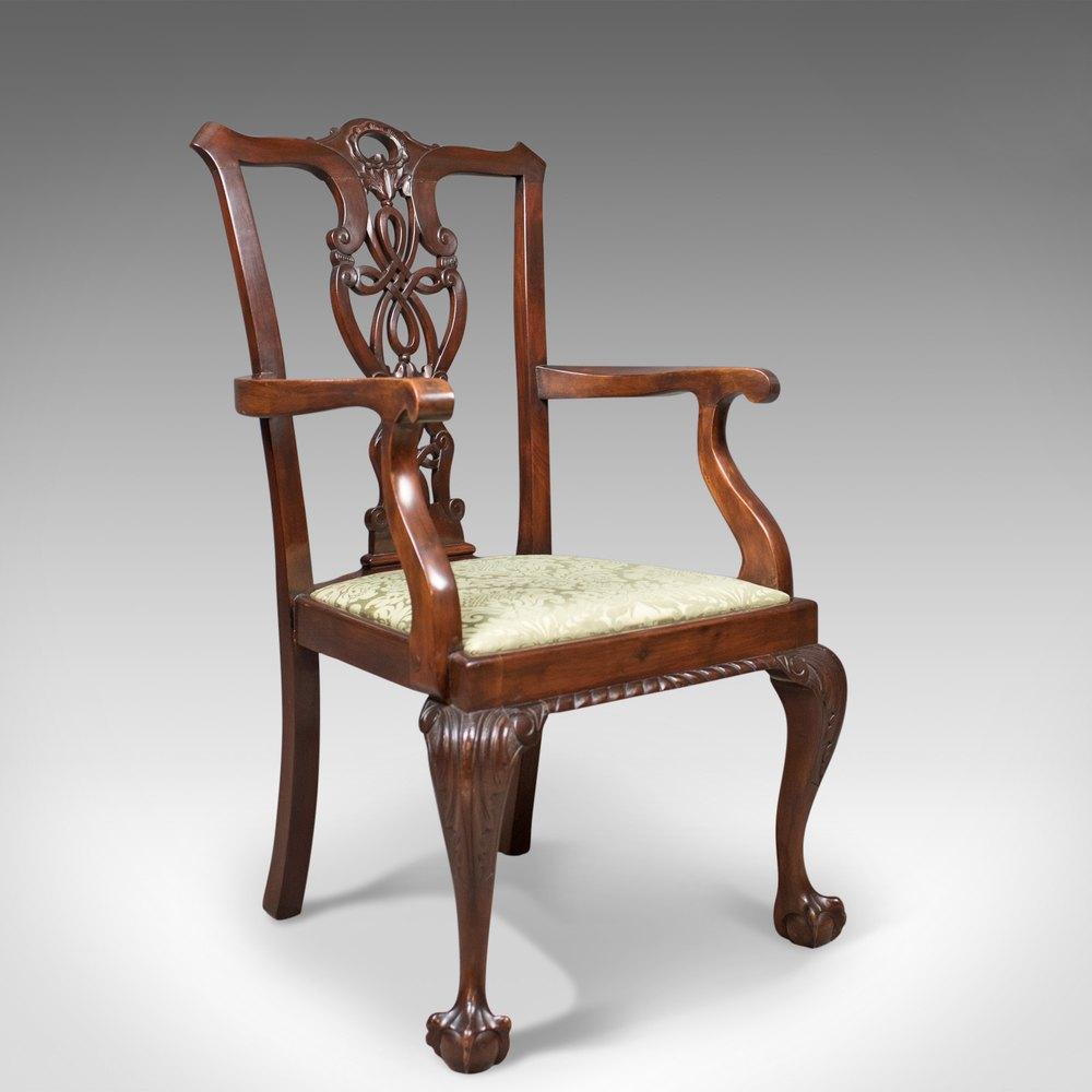 Antique Carver Chair, Victorian Chippendale Revival ... - Antique Carver Chair, Victorian Chippendale Revival - Antiques Atlas