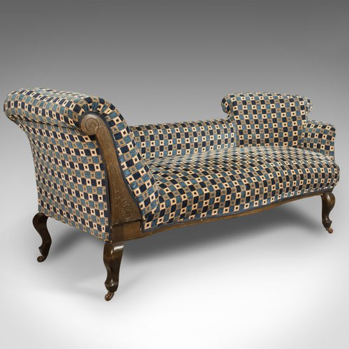 Antique chaise longue edwardian day bed english for Antique chaise longue for sale