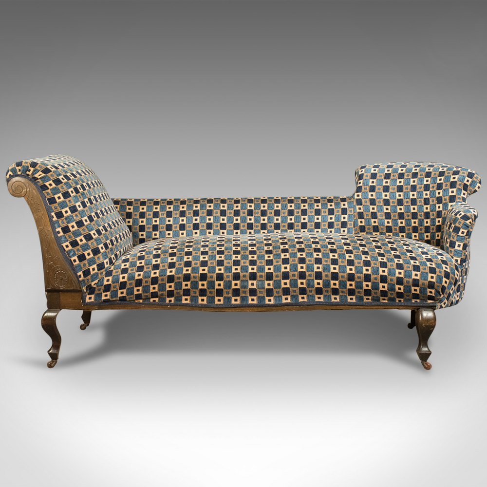 Antique chaise longue edwardian day bed english for Chaise longue antique
