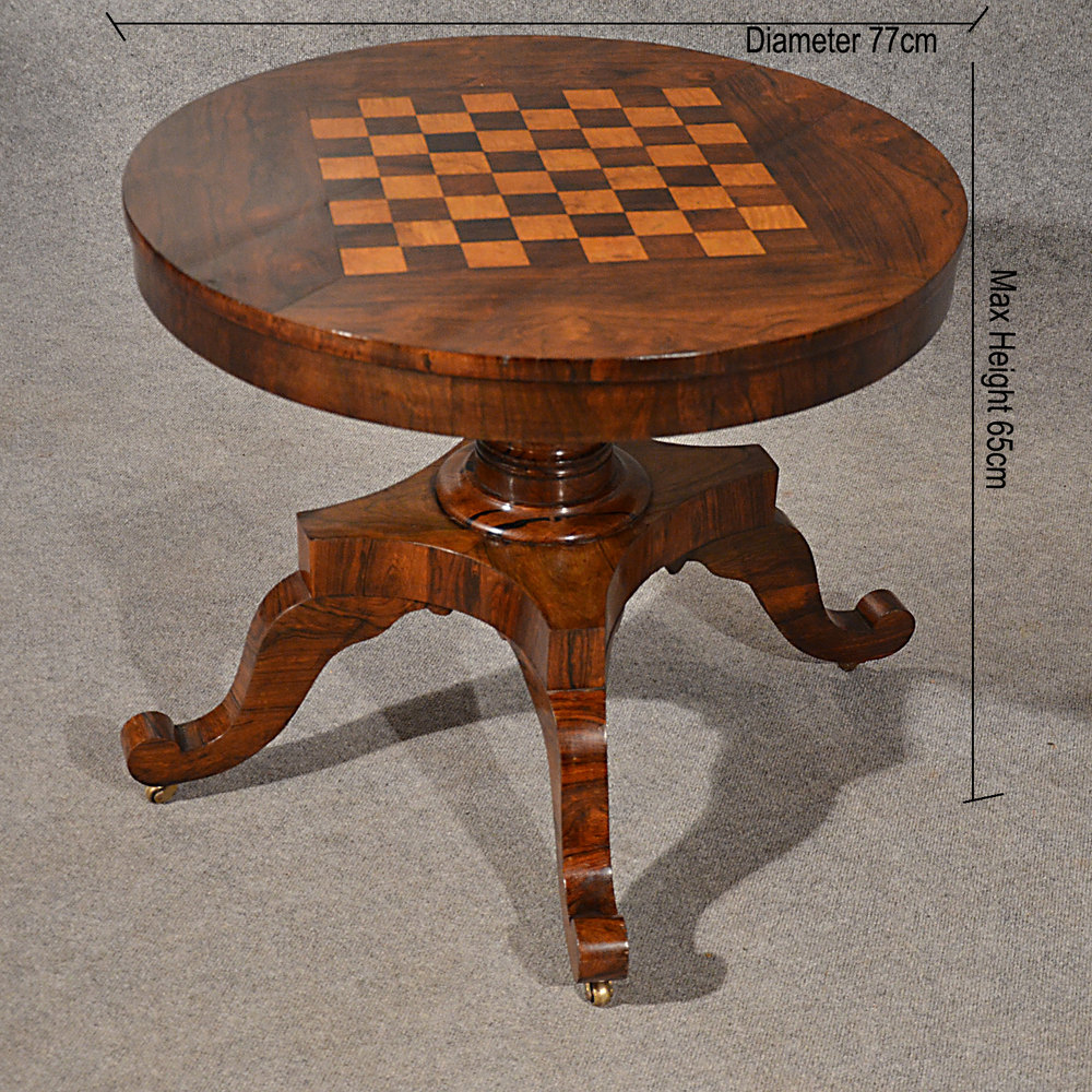 Antique Chess Games Library Table Burr Walnut Antiques Atlas
