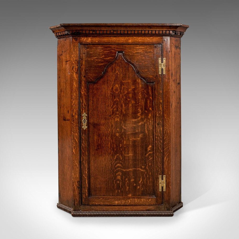 Antique Corner Cabinets ... - Antique Corner Cabinet, English Oak. - Antiques Atlas